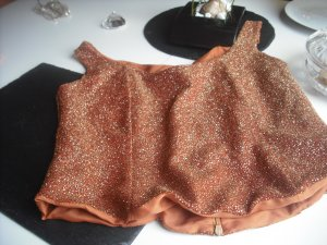 Topp Corsage Bustier Glitzer Party