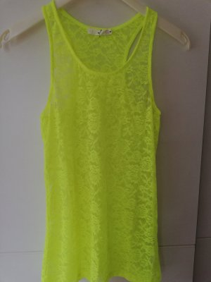 100% Fashion Canotta a bretelle giallo lime