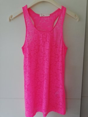 100% Fashion Canotta a bretelle fucsia neon