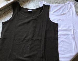 Basic Top white-black brown spandex