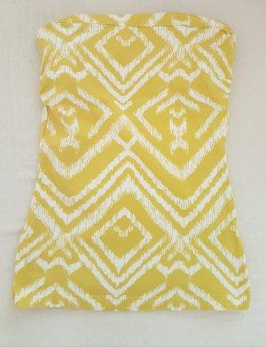 H&M Haut dos-nu blanc-jaune