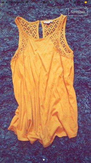 Lange top oranje-goud Oranje