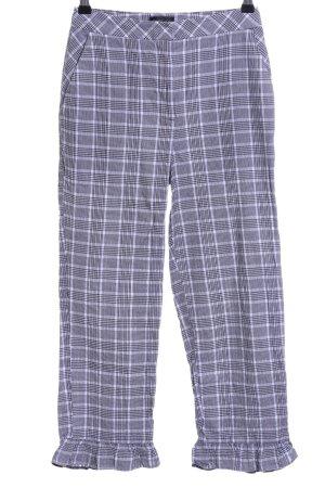 Topshop Pantalone a 3/4 grigio chiaro-nero motivo a quadri stile casual