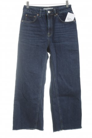 Topshop 7/8-jeans donkerblauw casual uitstraling