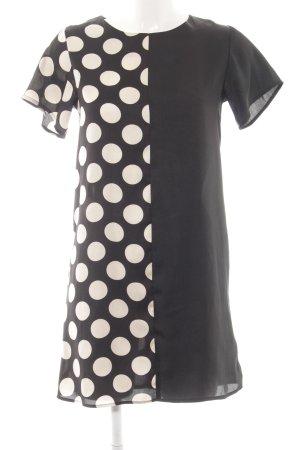 Topshop A-Linien Kleid schwarz-weiß Punktemuster Casual-Look