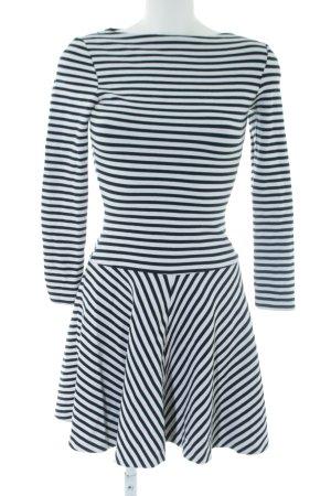 Topshop A-Linien Kleid schwarz-weiß Streifenmuster Casual-Look