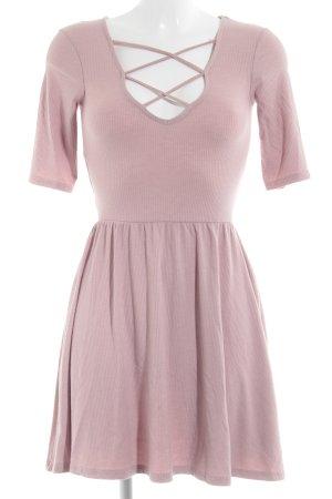 Topshop A-Linien Kleid rosa schlichter Stil