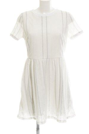Topshop A-Linien Kleid weiß-schwarz Beach-Look
