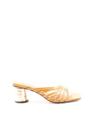 Topshop Heel Pantolettes gold orange-gold-colored animal pattern