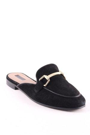 Topshop Sandalo con tacco nero-oro stile casual