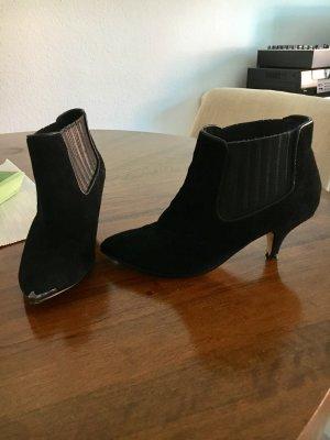 Topshop Ankle Boots Spitz aus Wildleder