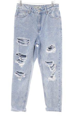 Topshop Baggyjeans himmelblau Jeans-Optik