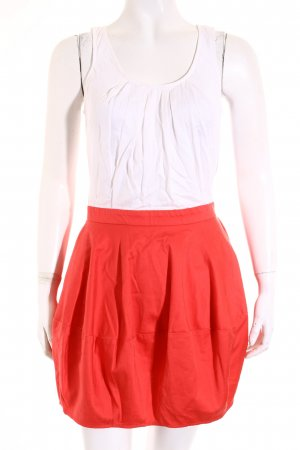 Topshop Ballonkleid rot-weiß Street-Fashion-Look