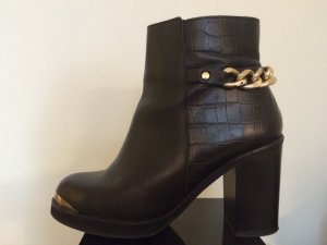 Topshop Black High Heel Boots