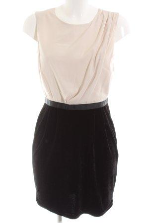 Topshop Bleistiftkleid creme-schwarz Elegant