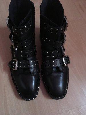 Topshop Blogger Boots mit Nieten, Topshop Stiefellette schwarz