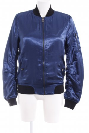 Topshop Blouson dunkelblau-schwarz Casual-Look