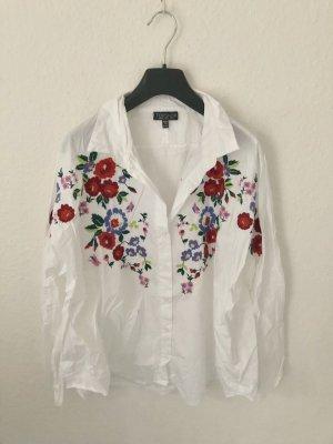 Topshop Bluse mit Blumen