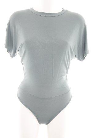 Topshop Blusa tipo body gris claro estilo «business»