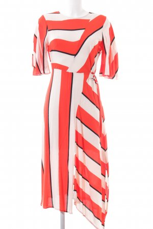 Topshop Blusenkleid rot-weiß Streifenmuster Casual-Look
