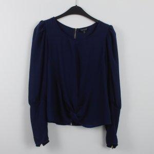 Topshop Blusenshirt Gr. 36 dunkelblau (18/7/349)