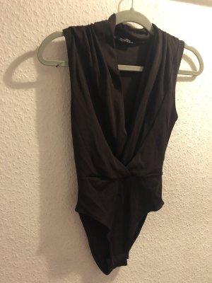 Topshop body elegant dunkel braun v ausschnitt