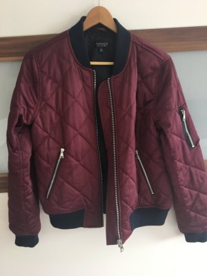 Topshop Bomber Jacket bordeaux