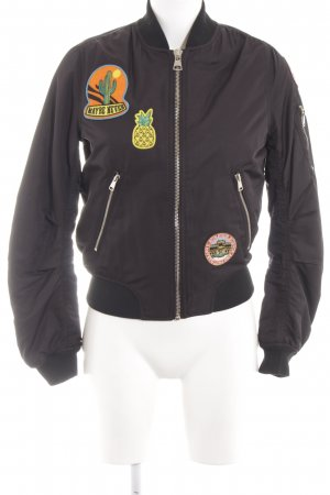 Topshop Giacca bomber nero stile casual