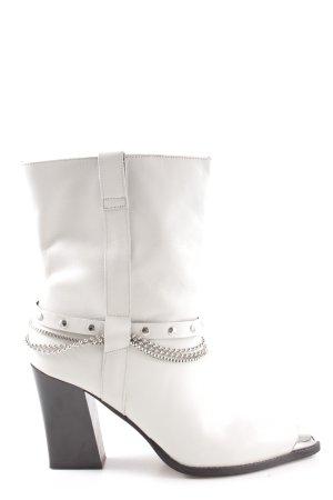 Topshop Booties weiß extravaganter Stil