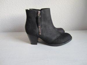 Topshop Botas de tobillo negro Cuero