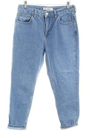 Topshop Boyfriendjeans dunkelblau meliert Street-Fashion-Look