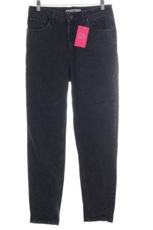 Topshop Jeans boyfriend gris foncé style décontracté