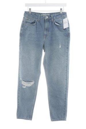 Topshop Jeans boyfriend azzurro stile casual