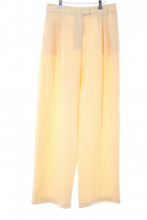 Topshop Pleated Trousers pale yellow-black pinstripe business style