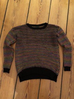 Topshop bunter Pullover Rundhalspullover Strick Sweater