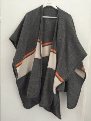 Topshop Cape Grau Orange One Size