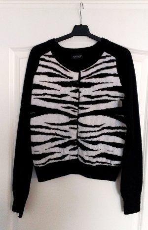 Topshop Cardigan mit Zebra-Muster