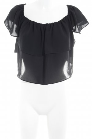 Topshop Carmen-Bluse schwarz Party-Look