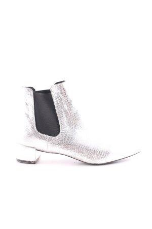 Topshop Botines Chelsea color plata-negro elegante