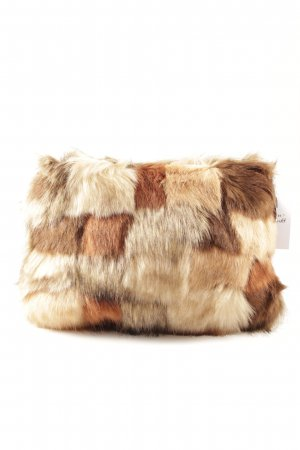 Topshop Clutch camel-braun Animalmuster Animal-Look