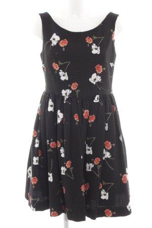 Topshop Cocktailkleid schwarz Blumenmuster Casual-Look