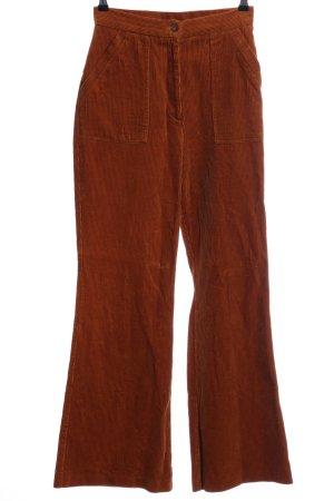 Topshop Pantalone di velluto a coste marrone stile casual