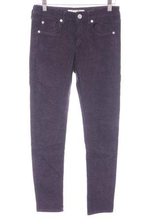 Topshop Pantalón de pana violeta amarronado look casual