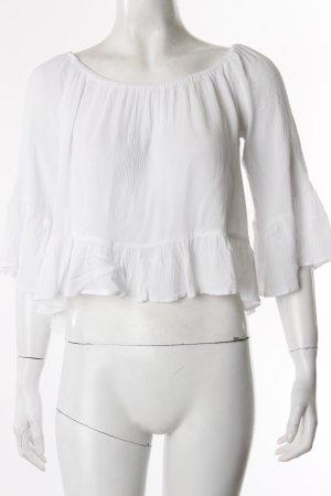 Topshop Crop Shirt weiß