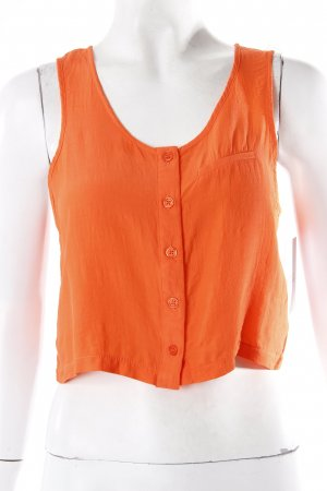 Topshop Cropped Blusentop orange