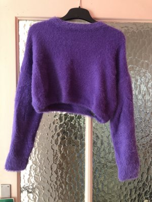 Topshop cropped pulli lila
