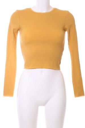 Topshop Cropped Shirt hellorange Elegant