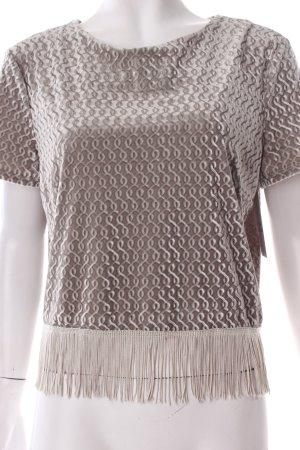 Topshop Cropped Shirt graugrün Boho-Look
