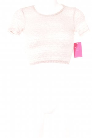 Topshop Cropped Shirt rosé Casual-Look