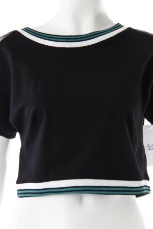 Topshop Cropped Shirt schwarz